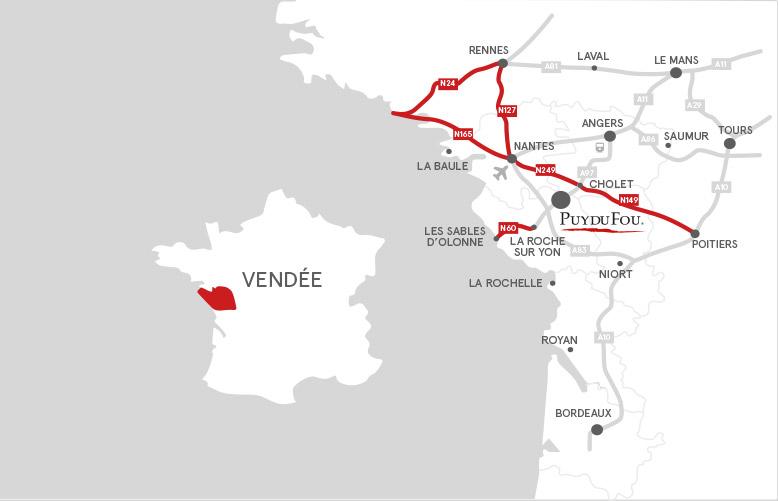 puy du fou carte de france Camper van site | Puy du Fou